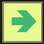 Phosphorescent Walkway Directions Sign
