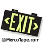 Single Face Exit Sign - Wall Mount - Black