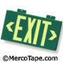 Single Face Exit Sign - Wall Mount - Green
