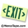 Single Face Exit Sign - Unframed - Green
